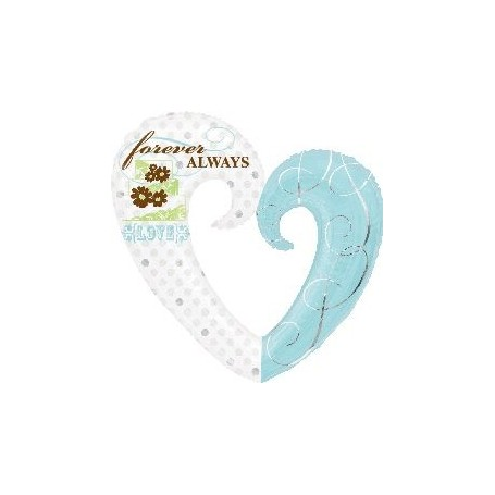 Forever Always心形鋁箔氫氣球 for Wedding Balloon - Candy Corner Decoration