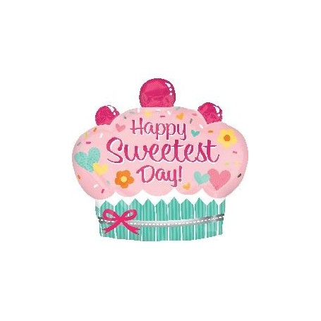 Happy Sweetest Day Cupcake氫氣球 for Other Type Of Balloon - Candy Corner Decoration