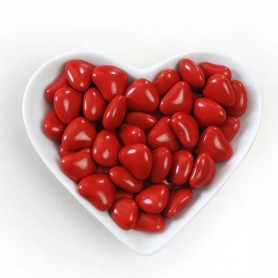 Mini Red Heart Shaped Dragees Chocolate Centre for Heart Shape Chocolate Bean - Candy Corner Decoration