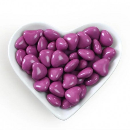 Mini Violet Heart Shaped Dragees Chocolate Centre for Heart Shape Chocolate Bean - Candy Corner Decoration