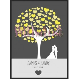 Signature Guest Board / 簽名樹 / 婚禮簽名樹 / 婚禮簽名樹 for Pre-Printed Signature Tree - Candy Corner Decoration