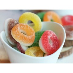 SOUR DOUBLE LAYER MINI RINGS GUMMY