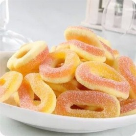 German Trolli SOUR DOUBLE LAYER PEACH RINGS GUMMY for Gummy - Candy Corner Decoration