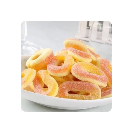 German Trolli SOUR DOUBLE LAYER PEACH RINGS GUMMY 200g for Gummy - Candy Corner Decoration