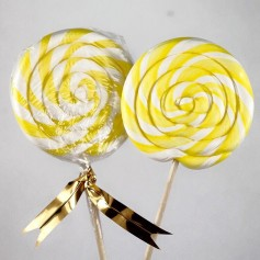 Yellow handmade lollipops 50g