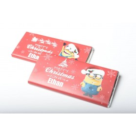 PERSONALIZED DESIGN Minions MEIJI CHRISTMAS CHOCOLATE BAR / XMAS CHOCOLATE BAR for Personalized Meiji Chocolate Bar | Wedding...