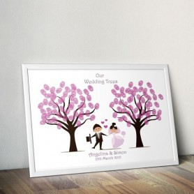 Fingerprint Tree / 指紋簽名樹 / 婚禮簽名樹 / 婚禮簽名樹適用於Fingerprint Signature Tree - Candy Corner Decoration