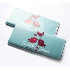 Love Bird 個人化設計MEIJI朱古力塊 PERSONALIZED MEIJI CHOCOLATE BAR / Wedding Chocolate適用於個人化設計Meiji 明治朱古力塊 - Candy Corner Decoration
