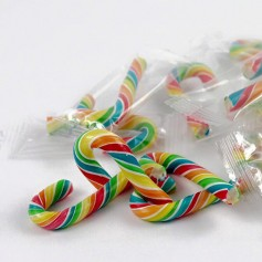 Rainbow Color Candy Canes