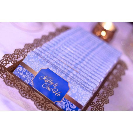 Personalized Design Blue Color Wedding Logo MEIJI CHOCOLATE BAR / Wedding Chocolate for Personalized Meiji Chocolate Bar | We...