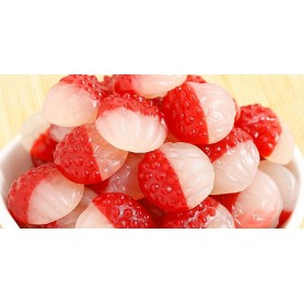 Red and white lychee gummy for Gummy - Candy Corner Decoration