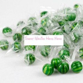 Watermelon Sassy Spheres White Striped Candy Balls for Hard Candy - Candy Corner Decoration