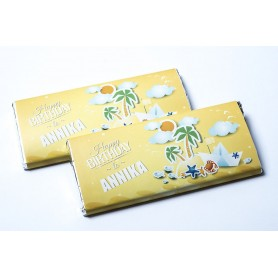Personalized Design HAWAII FEEL MEIJI CHOCOLATE BAR / Birthday Chocolate for Personalized Meiji Chocolate Bar | Wedding Choco...