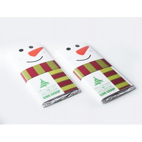 2017 CORPORATE DESIGN MEIJI CHRISTMAS SNOWMAN CHOCOLATE BAR / XMAS CHOCOLATE BAR for Personalized Meiji Chocolate Bar | Weddi...