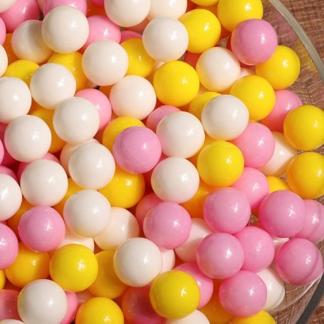 Bright Pink Yellow White Fresh Mixed sugar beans for Hard Candy - Candy Corner Decoration