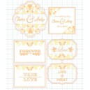 Orange & Milk White Candy Corner Tag with Design