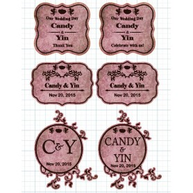 Dirty Pink Candy Corner Tag with Design