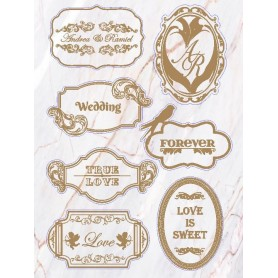 Natural Marble Candy Corner Tag with Design