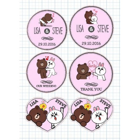 Brown & Cony Candy Corner Tag with Design