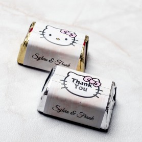 Hello Kitty Grand Style Personalized Design Hershey's Wedding Chocolate