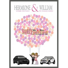BMW & Mini Cooper Signature Guest Board / 簽名樹 / 婚禮簽名樹 / 婚禮簽名樹 for Pre-Printed Signature Tree - Candy Corner Decoration