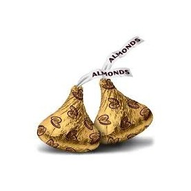 Hershey Kisses Gold Foiled Milk Chocolate with Almonds for HERSHEY'S Chocolate - Candy Corner Decoration
