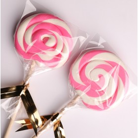 Pink Color Handmade Lollipops 50g for Lollipop - Candy Corner Decoration