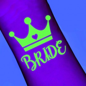 Luminous wedding theme tattoo stickers Bride (T13)