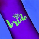 Luminous wedding theme tattoo stickers Bride (T16)