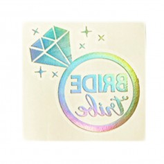 Flash Rainbow Silver Wedding Tattoo Sticker Bride Tribe (T10)