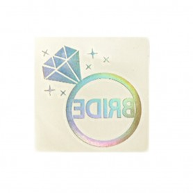 Flash Rainbow Silver Wedding Tattoo Sticker Bride  (T11)