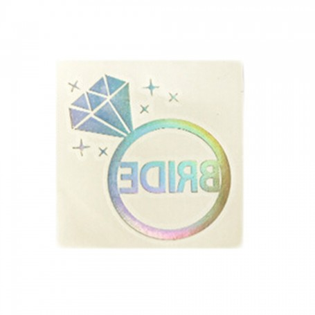 Flash Rainbow Silver Wedding Tattoo Sticker Bride (T11) for Flash Rainbow Silver Wedding Tattoo Sticker - Candy Corner Decora...