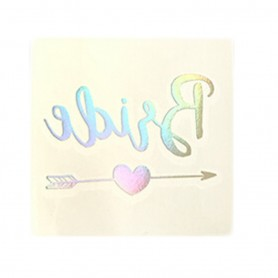 Flash Rainbow Silver Wedding Tattoo Sticker Bride (T19) for Flash Rainbow Silver Wedding Tattoo Sticker - Candy Corner Decora...