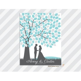 Couple Signature Guest Board / 簽名樹 / 婚禮簽名樹 / 婚禮簽名樹適用於Pre-Printed Signature Tree - Candy Corner Decoration