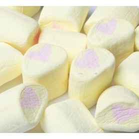 Yellow pink heart marshmallow for Marshmallow - Candy Corner Decoration