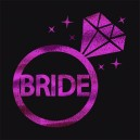 Flash Purple Wedding Tattoo Sticker Bride (T11)