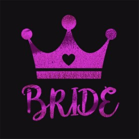 Flash Purple Wedding Tattoo Sticker Bride (T13)