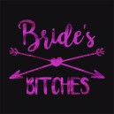 Flash Purple Wedding Tattoo Sticker Bride's Bitches (T14)