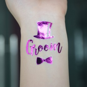 Flash Purple Wedding Tattoo Sticker Groom (T20)