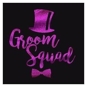Flash Purple Wedding Tattoo Sticker Groom Squad (T21) for Flash Purple Color Wedding Tattoo Sticker - Candy Corner Decoration