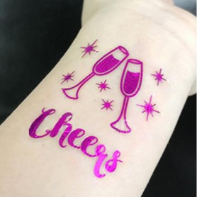Flash Purple Wedding Tattoo Sticker Cheers (T26) for Flash Purple Color Wedding Tattoo Sticker - Candy Corner Decoration