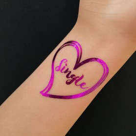 Flash Purple Wedding Tattoo Sticker Single (T33) for Flash Purple Color Wedding Tattoo Sticker - Candy Corner Decoration