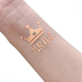 Rose Gold Wedding Tattoo Sticker Bride (T13) for ROSE GOLD WEDDING TATTOO STICKER - Candy Corner Decoration