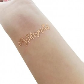 Rose Gold Wedding Tattoo Sticker Bridesmaid(T15) for ROSE GOLD WEDDING TATTOO STICKER - Candy Corner Decoration