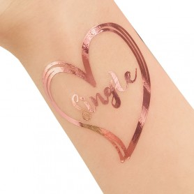 Rose Gold Wedding Tattoo Sticker Single (T33) for ROSE GOLD WEDDING TATTOO STICKER - Candy Corner Decoration