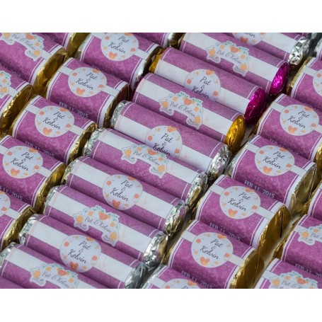 Purple Vintage Feel Personalized Design Hershey's Chocolate | Wedding Chocolate for Personalized Hershey's Wedding Chocolate ...