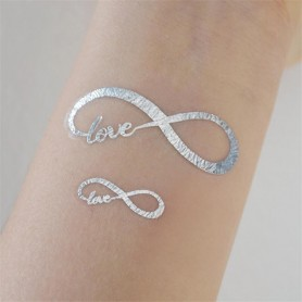Classic Silver Wedding Tattoo Sticker Love (T24) for Classic Silver Wedding Tattoo Sticker - Candy Corner Decoration