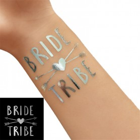 Classic Silver Wedding Tattoo Sticker Bride Tribe (T35) for Classic Silver Wedding Tattoo Sticker - Candy Corner Decoration