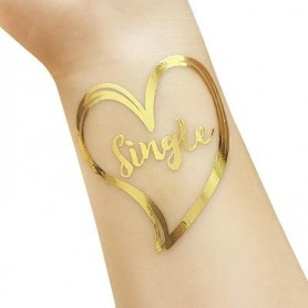 Classic Gold Wedding Tattoo Sticker Single (T33)