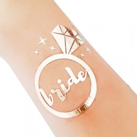 Rose Gold Wedding Tattoo Sticker Bride (T36) for ROSE GOLD WEDDING TATTOO STICKER - Candy Corner Decoration